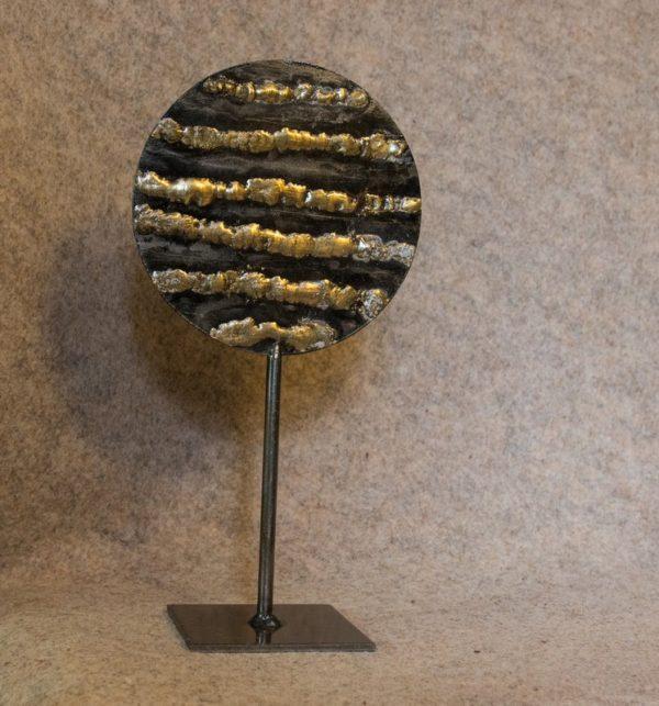 Petite sculpture en métal Soleil Soleil n°1 - face B