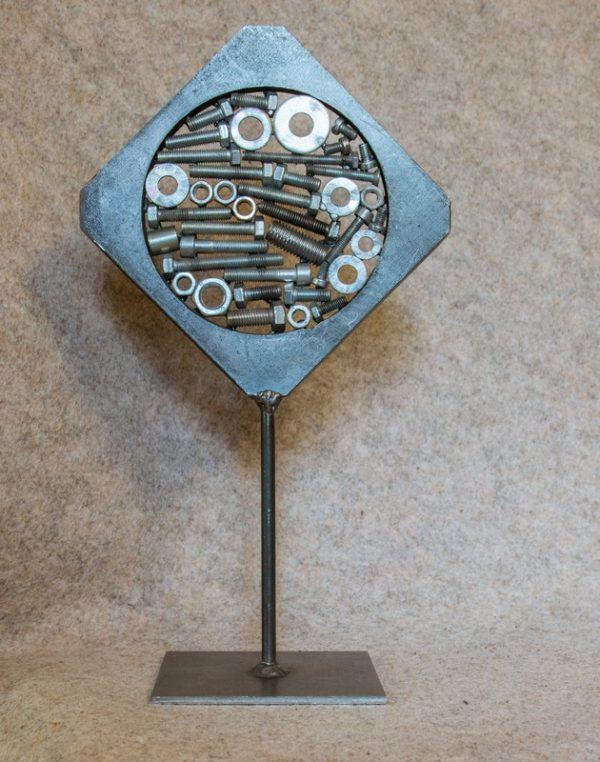 Objet métallique de décoration d'intérieur Alphalosange - face B