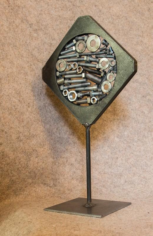 Objet métallique de décoration d'intérieur Alphalosange
