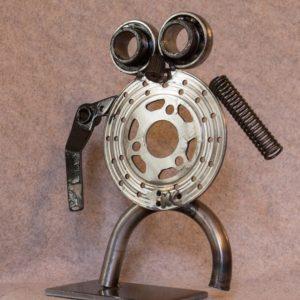 Petite Figurine en métal Google Eyes, objet de déco d'intérieur