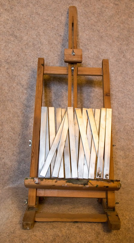 Tableaux métallique de décoration, 'Roseaux'