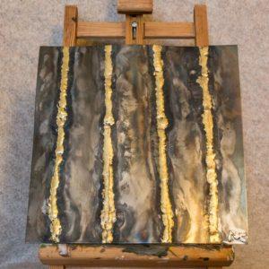 El Dorado n°6 - Tableau métallique d'intérieur