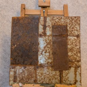 Tableau métallique Hommage à Mondrian pour une idée de décoration murale